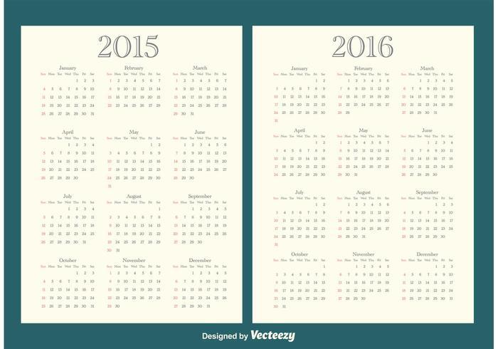 2015/2016 Calendars.