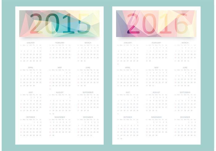 Free Vector Calendar 2015.