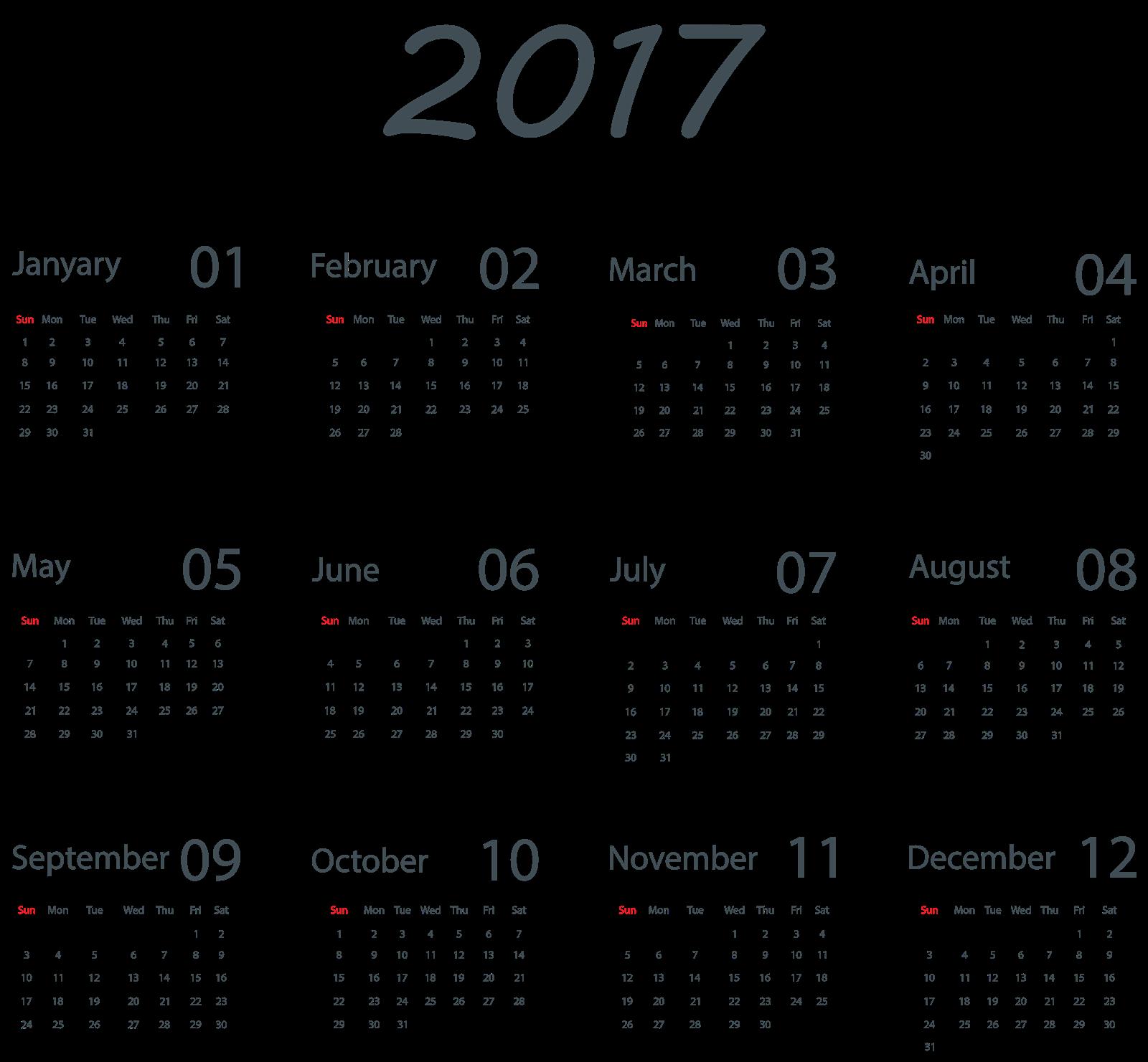 2017 Calendar PNG 5.
