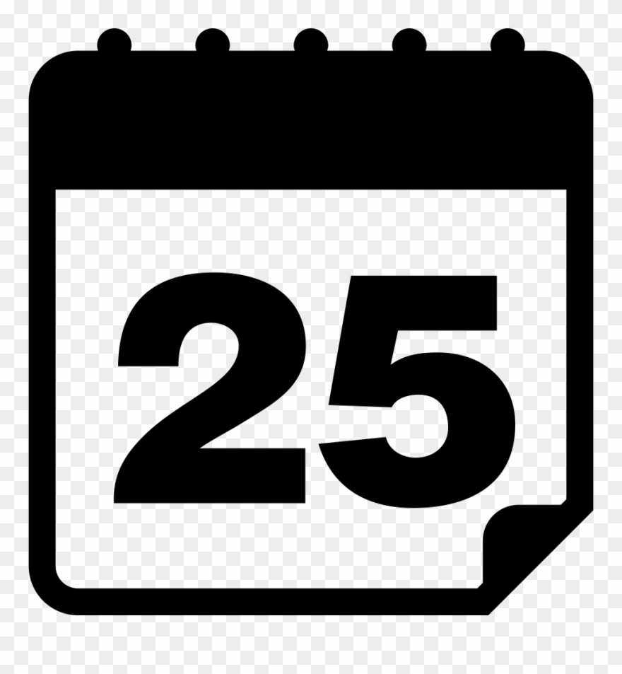 Calendar Page Of Day 25 Svg Png Icon Free Download Clipart.