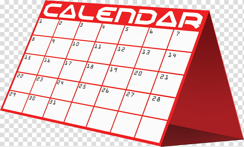 Calendar, red and white Calendar transparent background PNG.