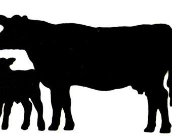 Calf silhouette.