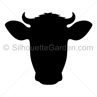 Cow head silhouette clip art. Download free versions of the image.