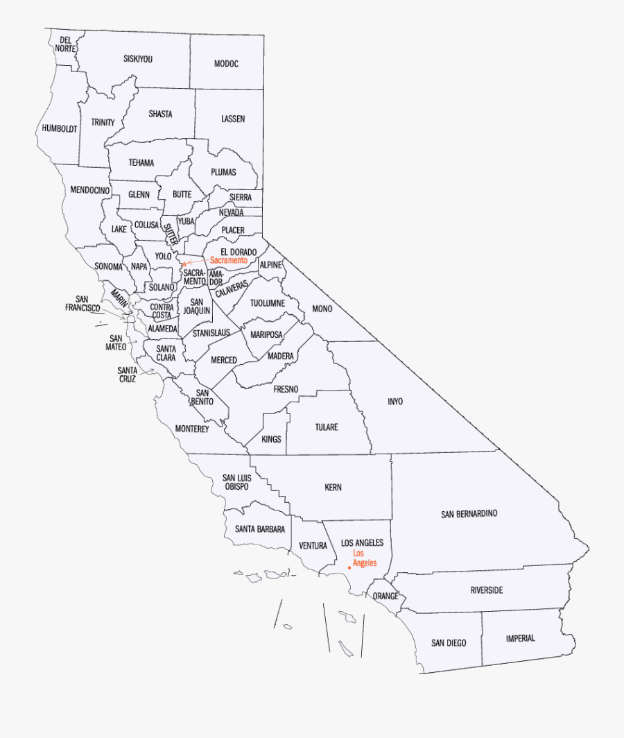 Map Of California , Free Transparent Clipart.