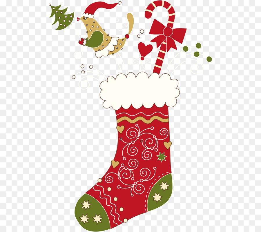 Calze di natale ornamento di Natale Befana Clip art.