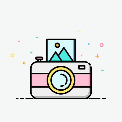 Camera clipart colorful in filled outline style for.