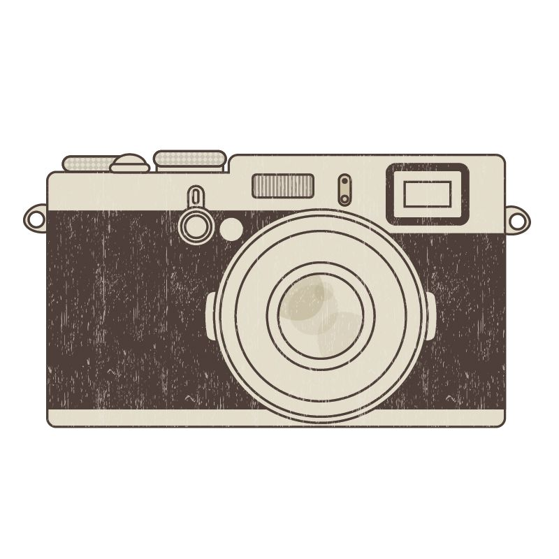 Free vintage clip art images: Retro photo camera clip art.