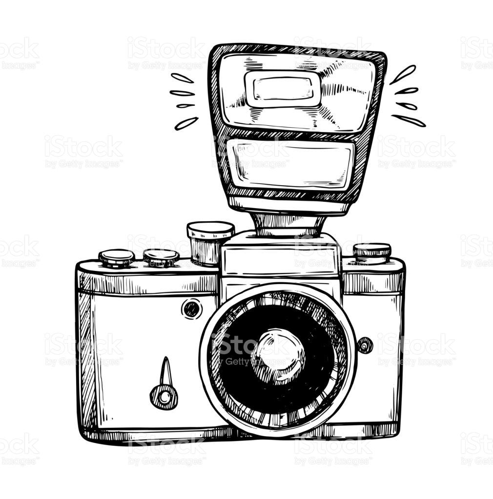 Camera Flash Clipart Black And White.