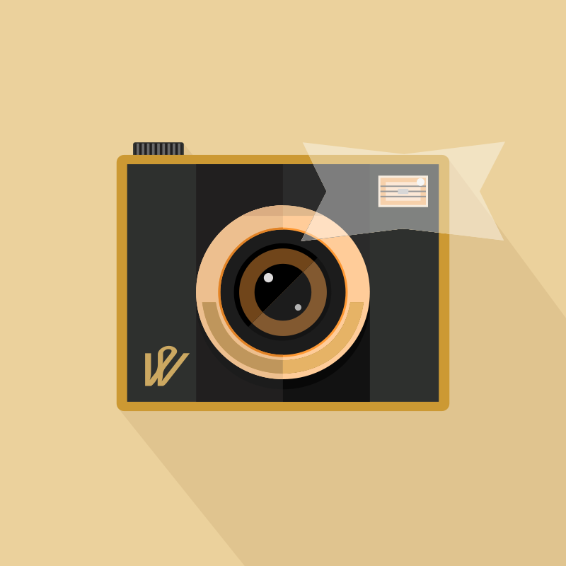 Free Clipart: Camera with Flash.