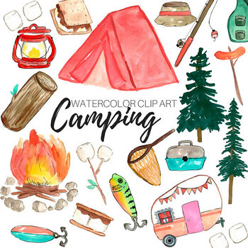 Collection of 14 free Watercolor clipart camping bill clipart dollar.