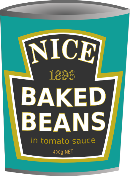 Can Of Beans Clipart.