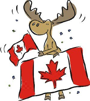Moose and Canadian Flags. in 2019.
