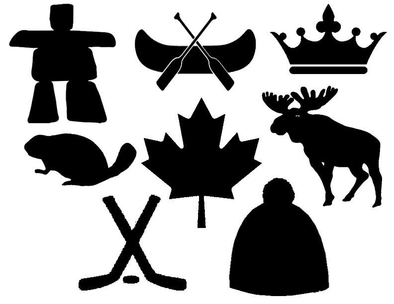 Canadian Symbols Stencils for Pennant Bunting.