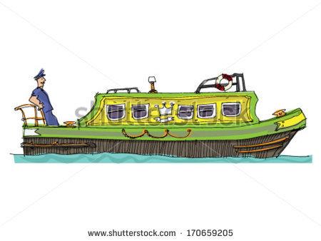 Narrow Boat Stock Images, Royalty.