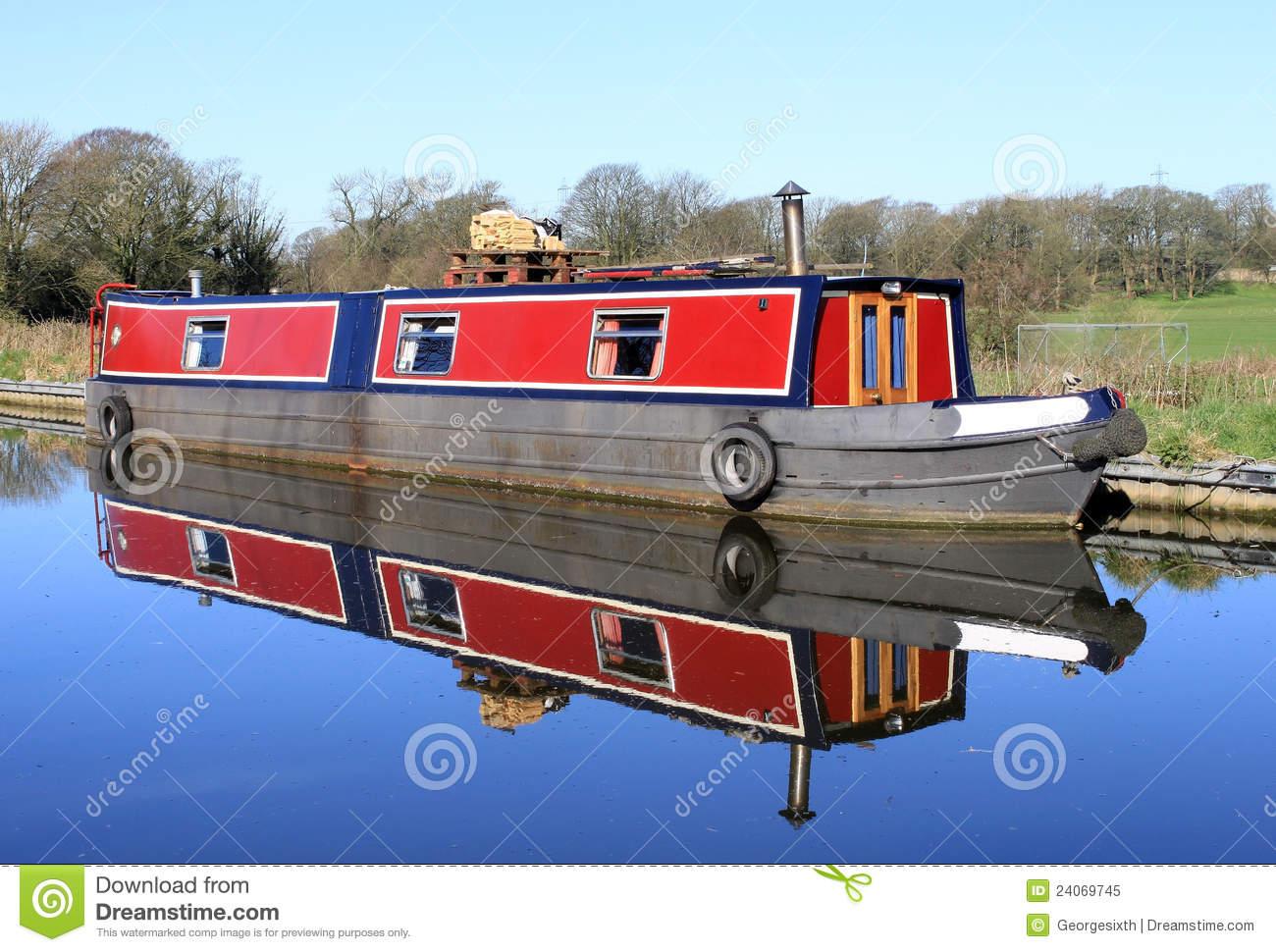 Narrow Boat On Lancaster Canal Royalty Free Stock Photo.