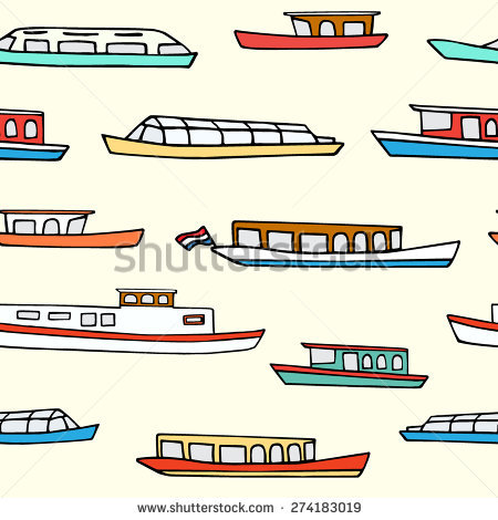 Canal Boat Stock Vectors, Images & Vector Art.