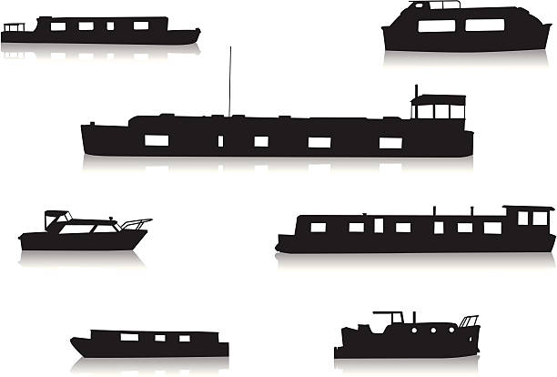 Canal Boat Clip Art, Vector Images & Illustrations.