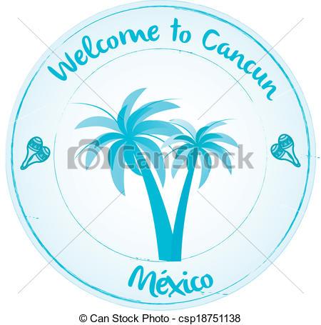 Cancun Mexico Clipart.