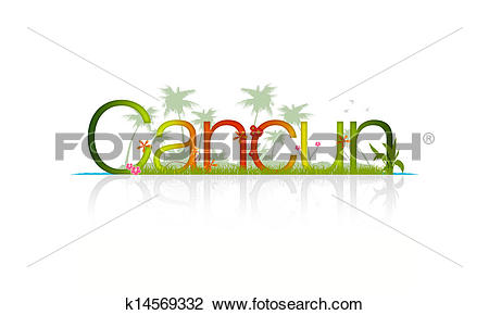 Clip Art of Cancun, Mexico k14569332.