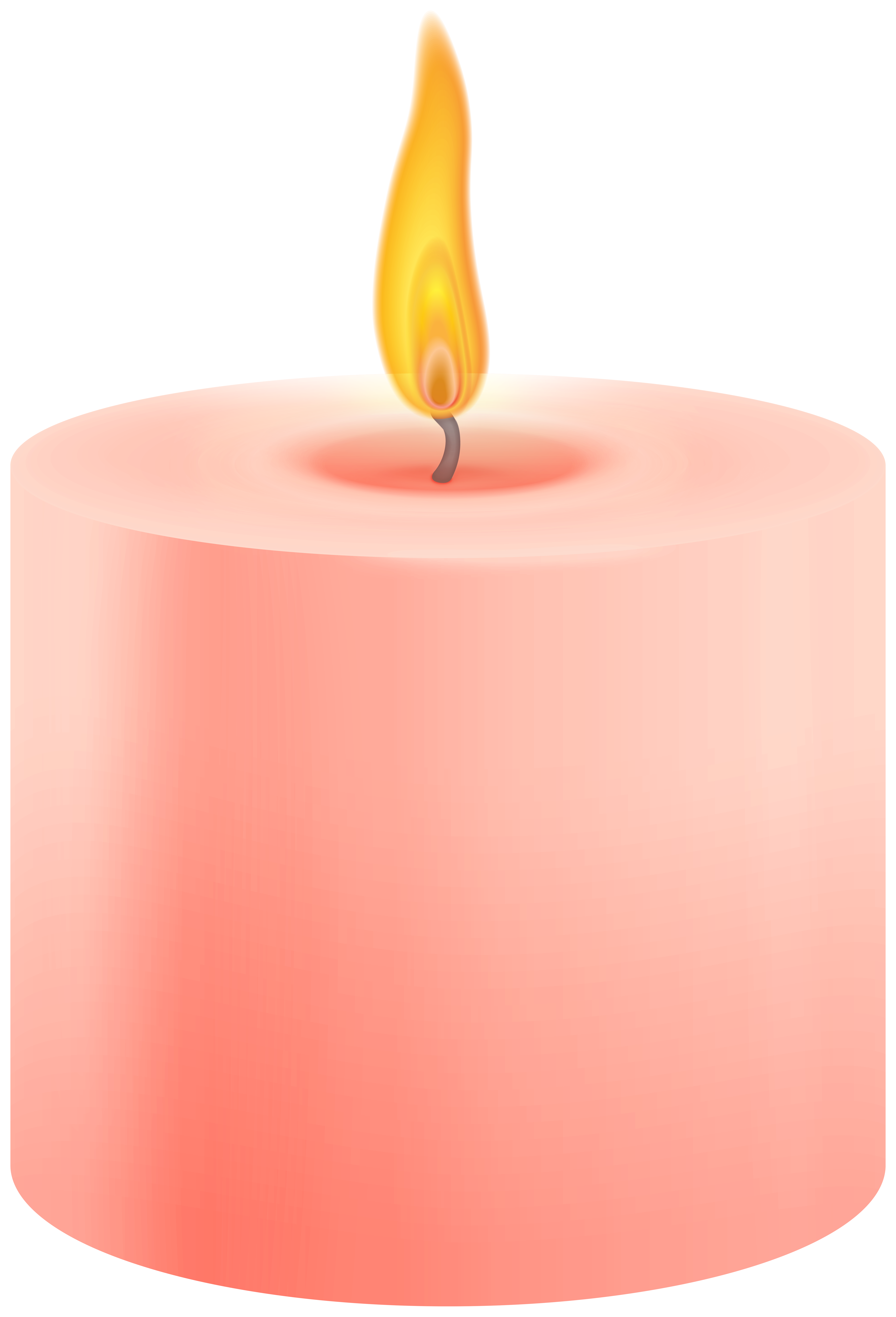 Red Pillar Candle PNG Clip Art.