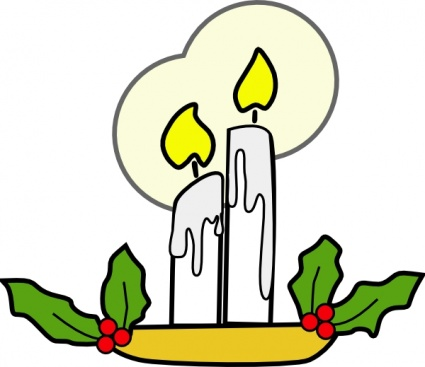 Candle Light clip art free vector.