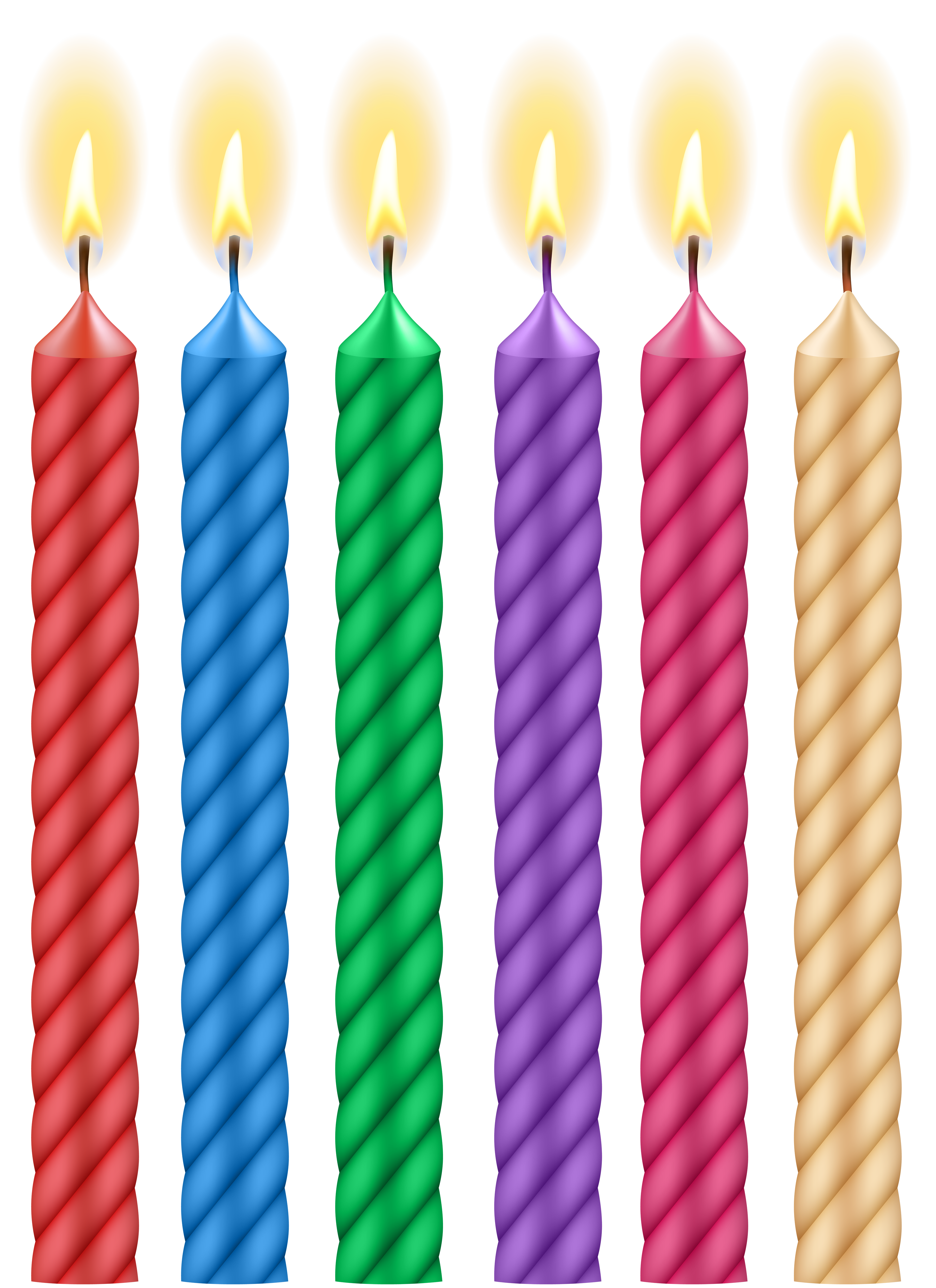 Birthday Candles PNG Clip Art Image.