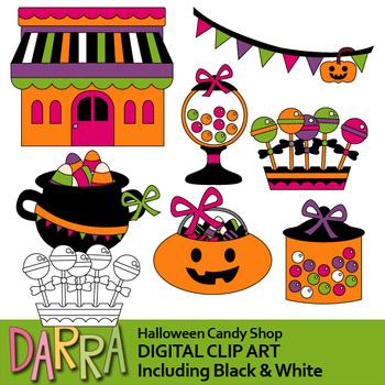 Halloween clip art / candy shop clipart.