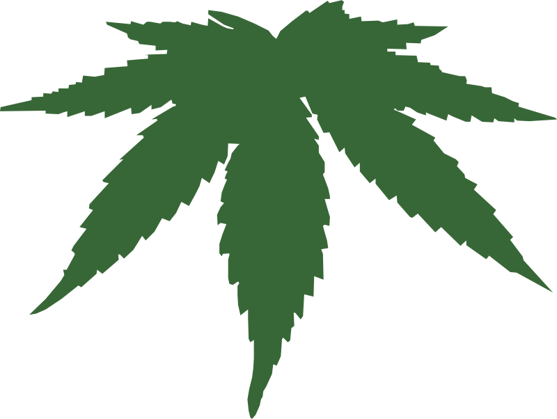 Free Clipart: Cannabis leaf.