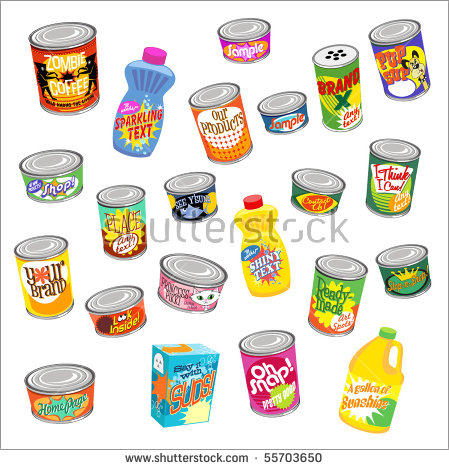 Canned Food Stock Images, Royalty.