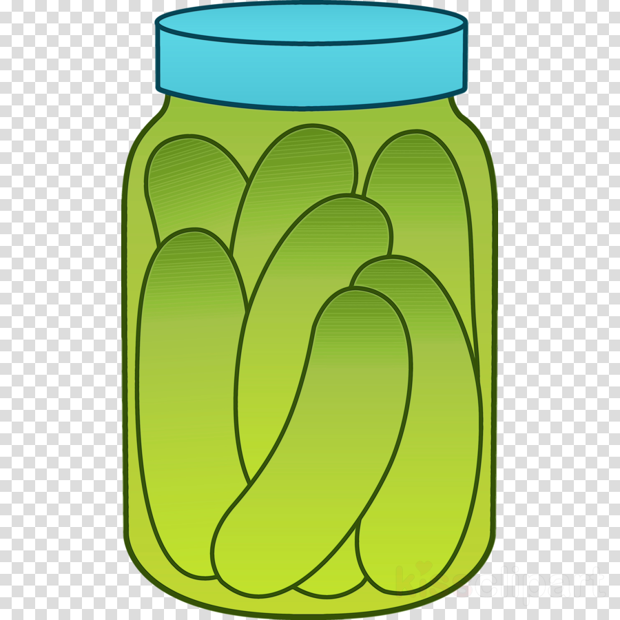 green clip art yellow plant canning clipart.