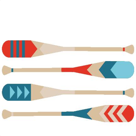 Canoe paddle clip art.