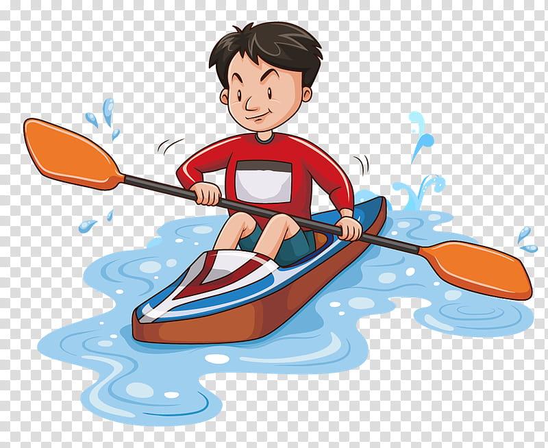 Rafting, Kayak, Kayaking, Cartoon, Canoe, Canoeing Kayaking.