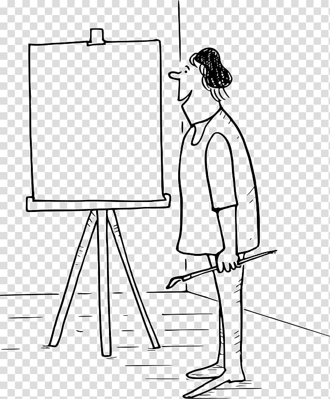 Easel Drawing Line art Painting , canvas transparent.