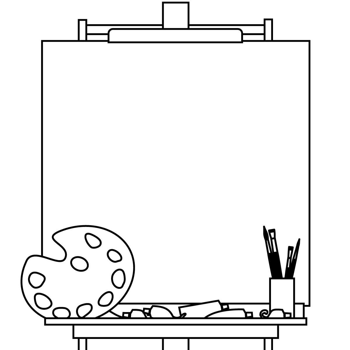 Blank canvas clipart.