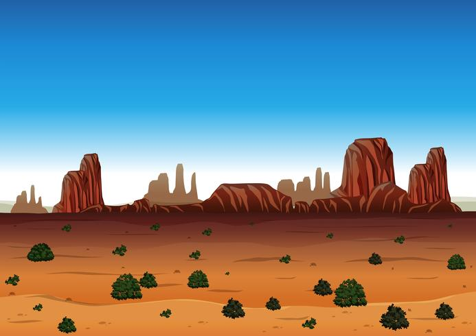 Background scene with canyon and field.