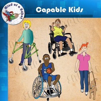 Capable Kids Clipart.