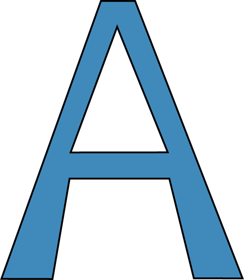 Capital Letter A Clipart.