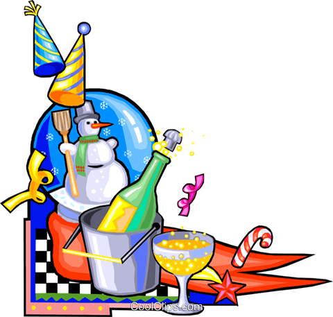 New Year\'s eve Royalty Free Vector Clip Art illustration.