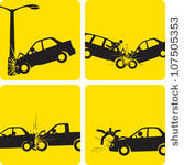 Professional Car Accident Cartoon Stock Photos.
