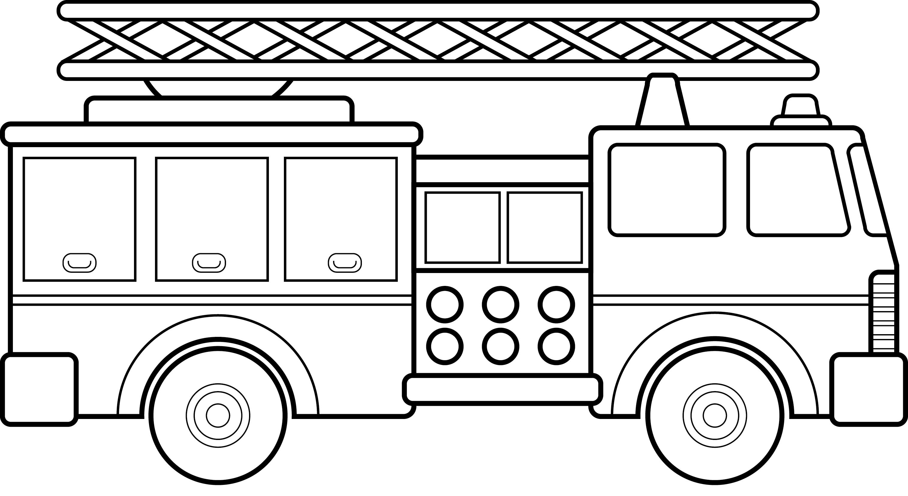 Top fire truck cars and trucks clip art black white car library.