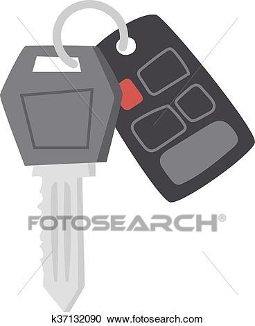 Car keys vector illustration. Clipart.