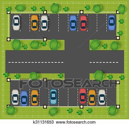 Car parking Clipart.