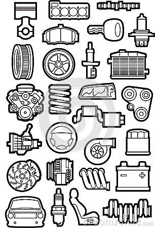 Car Parts Royalty Free Stock Photo.