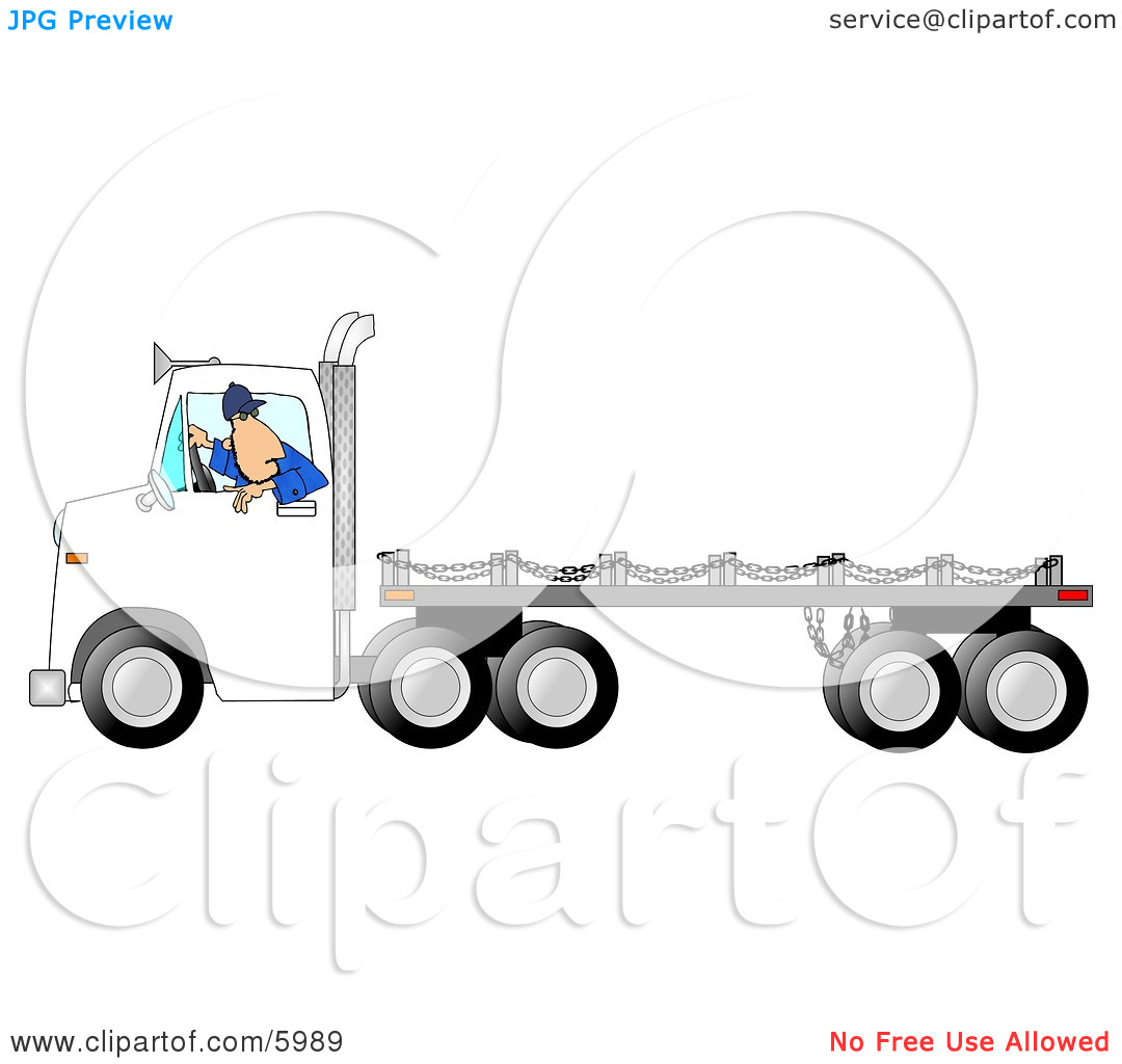 Free Flatbed Trailer Clipart.