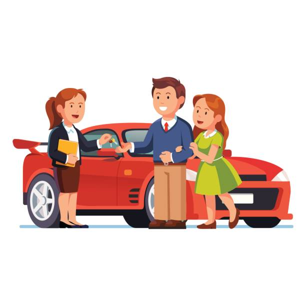 Buying A Car Clipart.
