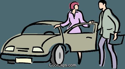 car sales Royalty Free Vector Clip Art illustration.