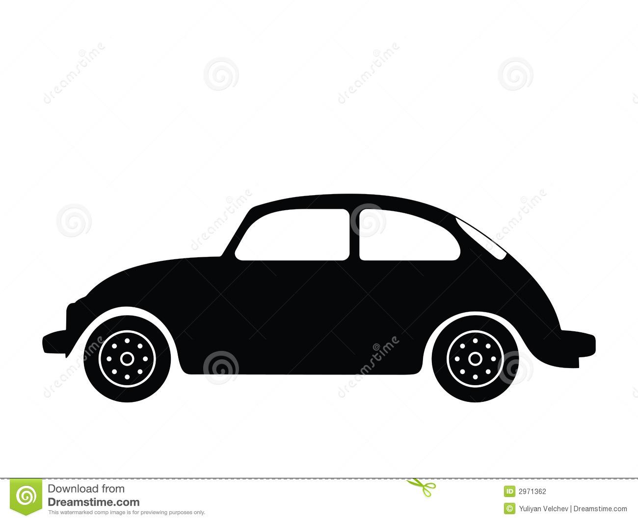 Bug Car Silhouette Clipart.