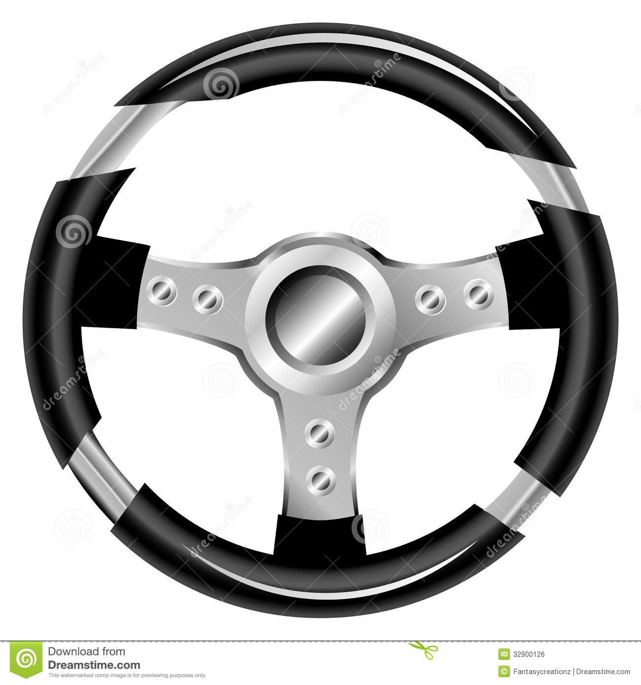 Steering Wheel Royalty Free Stock Image.