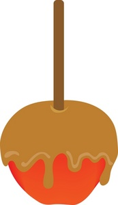 Free Caramel Apple Clipart.