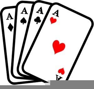Spades Card Game Clipart.